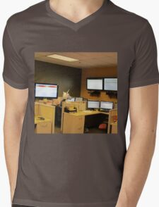 Unicorn in a cubicle #1 - the death of magic Mens V-Neck T-Shirt