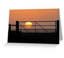 I caught the sun today Greeting Card