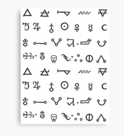 Alchemy Glyphs Canvas Print