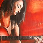 Girl and a Guitar by Midori Furze