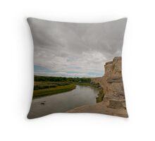 The Milk River Throw Pillow