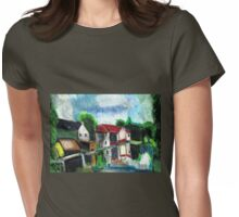 On The Riverfront Womens Fitted T-Shirt