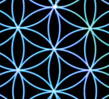 Flower of Life - Blue to Pink Sticker