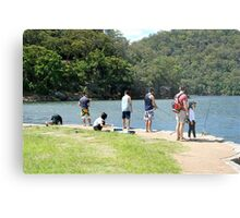Fishing on the Hawksbury Metal Print