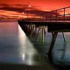 A Glenelg Sunset by Darryl Leach