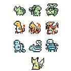 16x16 8 bit gen.1 starters by Ashley Dadoun