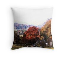 Morning mist over Rydal Throw Pillow