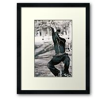 just swinging by to say hi Framed Print