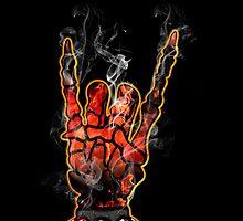 HEAVY METAL HAND SIGN - hellfire by sleepingmurder
