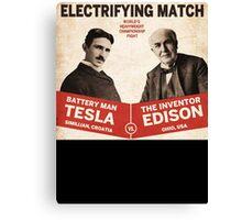 Edison vs Tesla Canvas Print