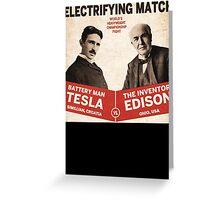 Edison vs Tesla Greeting Card