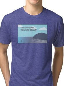 Big Blue- What's Older Than the Hills? Tri-blend T-Shirt
