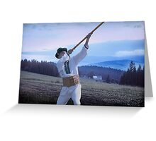 Carpathian Highlander Greeting Card