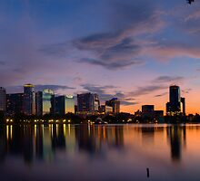 Lake Eola Panorama at Dusk by Phillip  Simmons