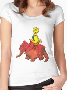 He-Bird and Battle Snuffy Women's Fitted Scoop T-Shirt