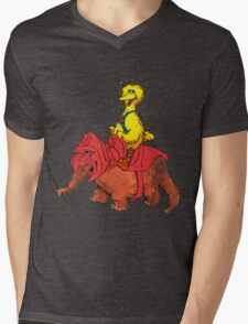 He-Bird and Battle Snuffy Mens V-Neck T-Shirt