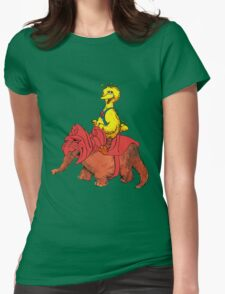 He-Bird and Battle Snuffy Womens Fitted T-Shirt