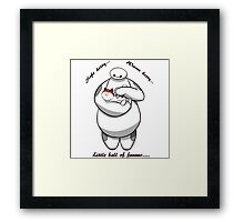 Baymax Baby Hero And Cat Hairy Framed Print