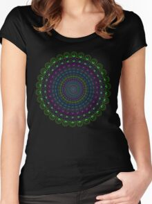 Psychedelic Spin Women's Fitted Scoop T-Shirt