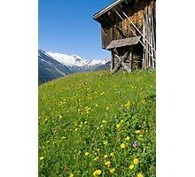 Alpine Barn Photographic Print