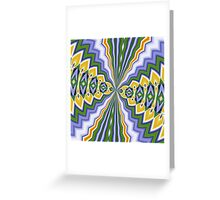 Aftershock - In Green, Lilac and Orange Greeting Card