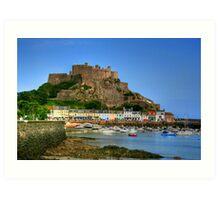"""""""Mount Orgueil Castle, Gorey Harbour"""" Art Print"""