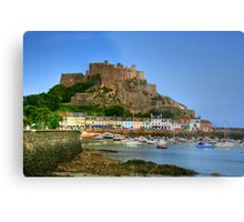 """Mount Orgueil Castle, Gorey Harbour"" Metal Print"