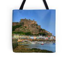 """""""Mount Orgueil Castle, Gorey Harbour"""" Tote Bag"""