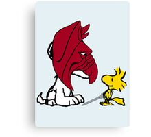 Battle Snoopy and He-Bird Canvas Print