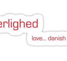 Kærlighed - love... danish style Sticker