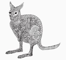 Wallaby Madness Zentangle Kids Clothes