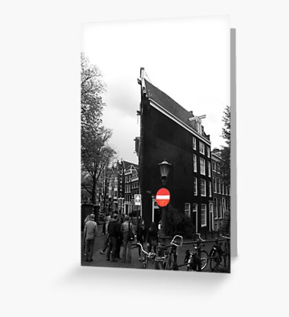 Slim buildings Amsterdam Greeting Card