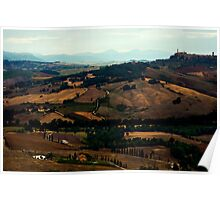 Towards Montepulciano Poster