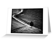 The Curve in the Road Greeting Card