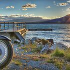 Port Bryson Jetty, Lake Ohau by Tony Burton