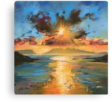 Morar Sunset Canvas Print
