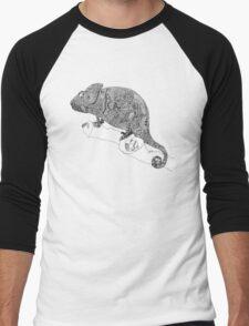 Karma Chameleon Zentangle Men's Baseball ¾ T-Shirt