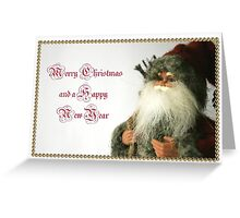 Vintage inspired Christmas card Greeting Card