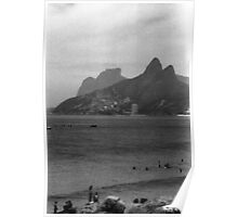 Two Brothers Hills and Gavea Rock Poster