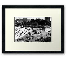 Arpoador Square, Rio de Janeiro, Brazil Framed Print