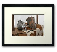 No hard hat, no job! Framed Print