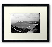 Arpoador Rocks and Ipanema Beach Framed Print