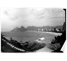 Arpoador Rocks and Ipanema Beach Poster