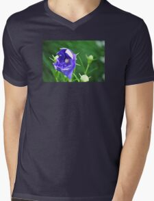 Purple Flower Mens V-Neck T-Shirt