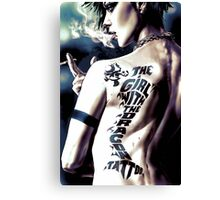 The girl with the Yoshi tattoo Canvas Print