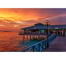 Fireworks of Colors. Maldives  Photographic Print