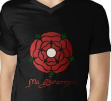 Rose Gules Mens V-Neck T-Shirt