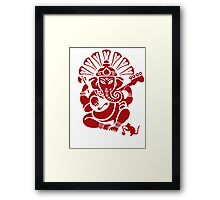 Ganesh plugged in - Large! Framed Print