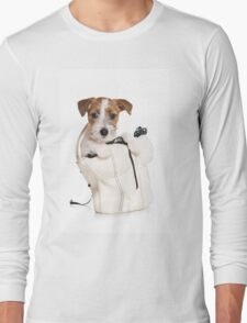 Jack Russell Terrier puppy in a bag Long Sleeve T-Shirt