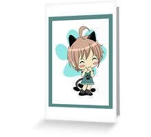 Mew Mew Chibi Cat Greeting Card